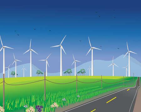 Wind turbines for alternative energy Stok Fotoğraf