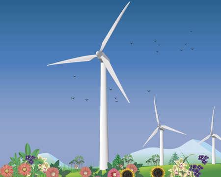 청정 에너지 용 풍력 터빈