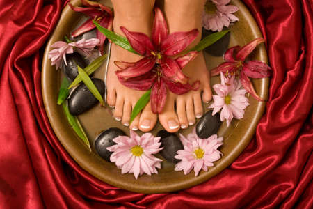 Footcare and pampering at the spa photo