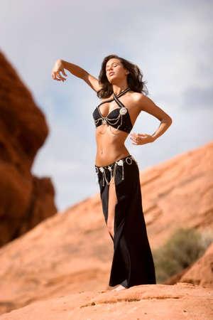 Beautiful sexy bellydancer Stock Photo