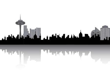 Urban silhouette Illusztráció