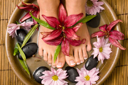 Footcare and pampering at the spa Stock Photo - 4745338