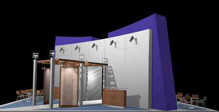 3d render of exhibition stands Stock Photo - 4770539