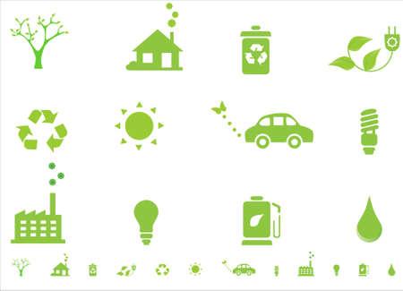 Symboles de l'environnement écologie Banque d'images - 4828560