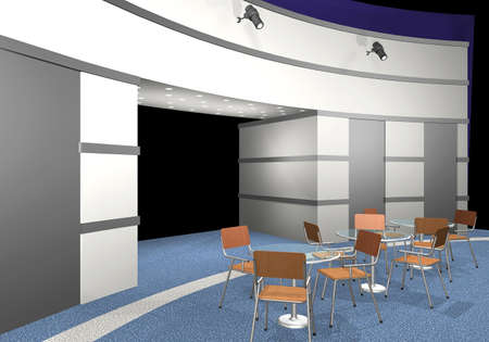3d render of an exhibition area photo