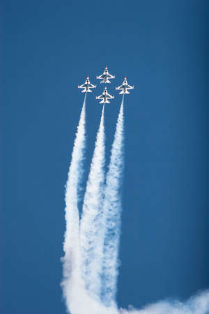 F16 thunderbirds at the airshow Stock Photo - 4882756