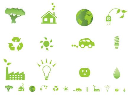 Milieu-ecologie symbolen