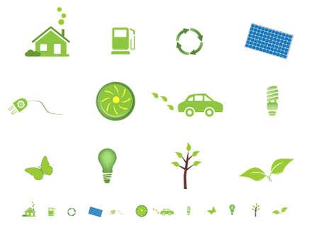 Milieuvriendelijke eco symbolen