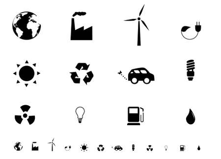 Ecologie pictogram set Stock Illustratie