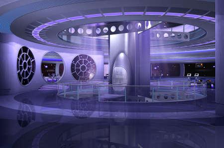 3D de una nave espacial