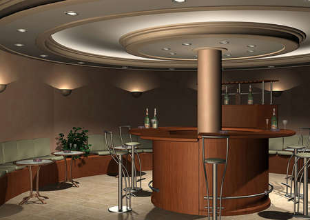 rendering: 3D render of a bar Stock Photo