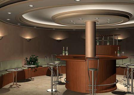bar: 3D render of a bar Stock Photo