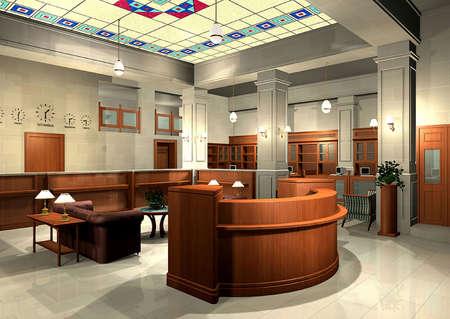 3D de una oficina Foto de archivo - 4983583