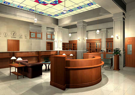 3D rendering of an office Stock Photo - 4983583