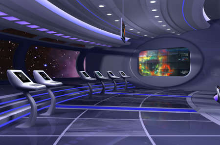 technologic: 3D rendering of a spaceship