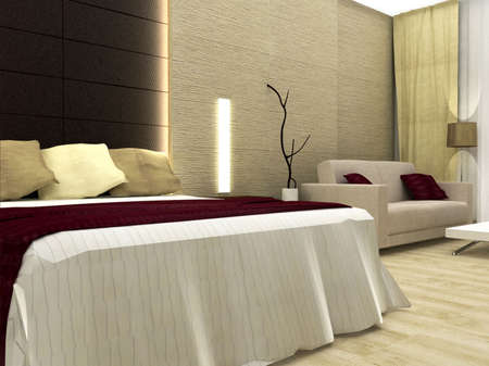 3D rendering of bedroom Stock Photo - 4983597