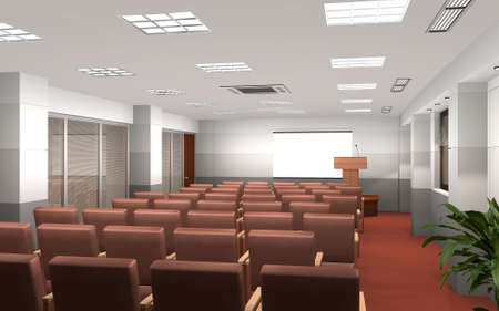 3D render of a conference room