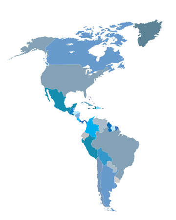 Map of American countries photo