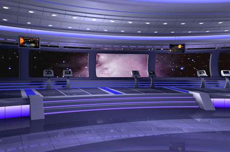 raumschiff: 3D-Rendering f�r ein Raumschiff