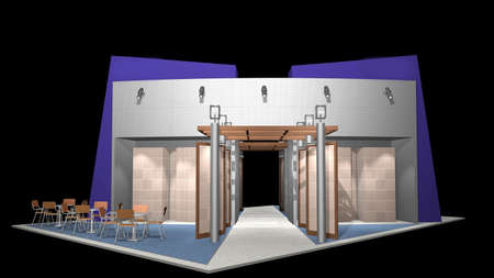 3d render of exhibition stands photo