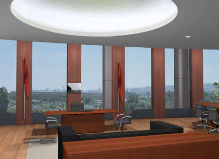 3D rendering of an office Stock Photo - 5300062