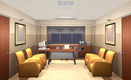 3D rendering of an office Stock Photo - 5374314