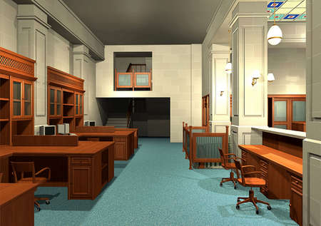 3D rendering of an office Stock Photo - 5457817