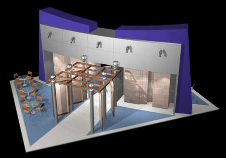 3d render of exhibition stands