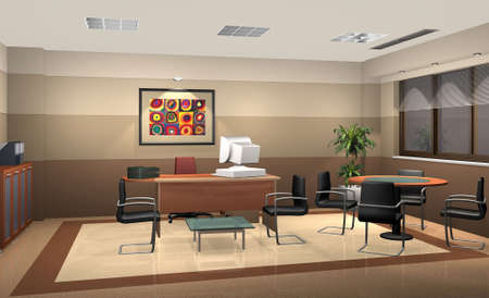 3D rendering of an office photo