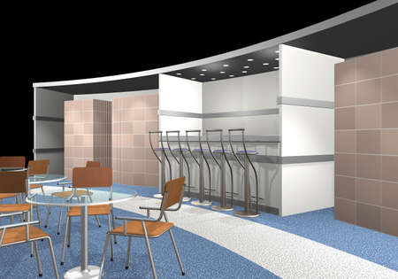 3d render of an exhibition area