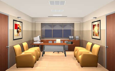 3D rendering of an office Stock Photo - 5699059