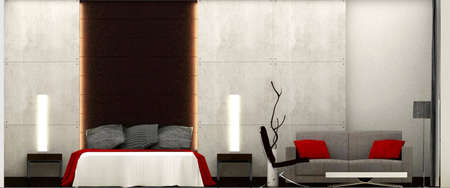 3D rendering of bedroom Stock Photo - 5747718