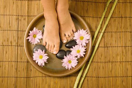 pampering: Cuidado de los pies y los mimos en el spa