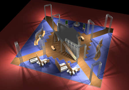 3D view of an exhibition area Stock Photo - 5785840
