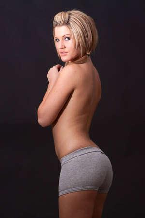 comfortable: Young girl wearing comfortable underwear