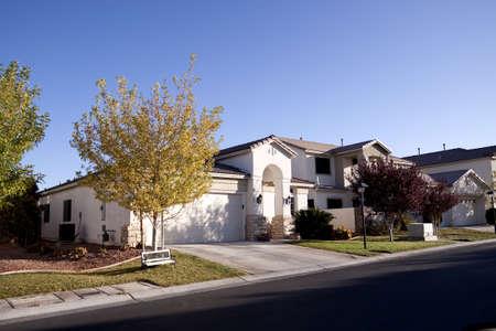 Southwest architecture style suburban neighborhood homes