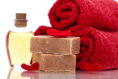 Various spa or bath items photo