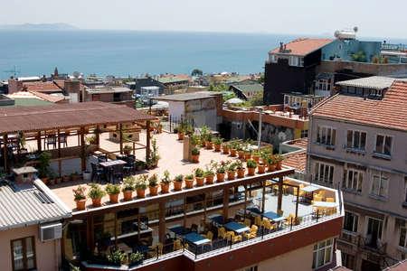 이스탄불의 옥상 전망 스톡 콘텐츠