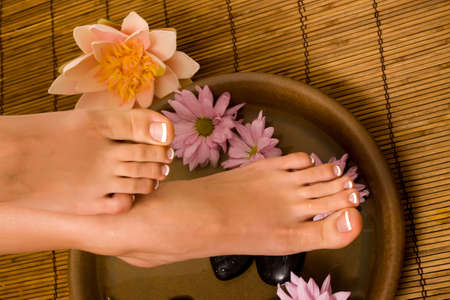 stone wash: Footcare and pampering at the spa