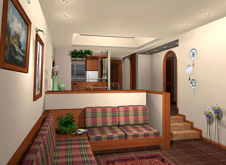 3D rendering of a house inter Stock Photo - 6079476