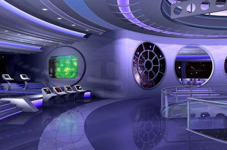 raumschiff: 3D Rendering von einem Raumschiff