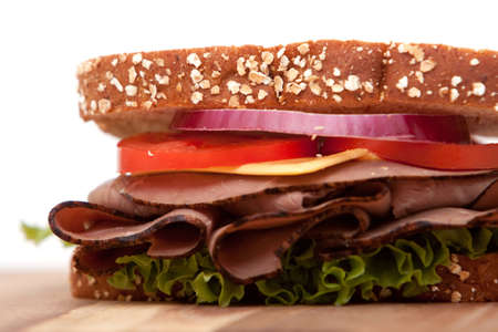 sandwiches: Roast beef sandwich with all the fixings