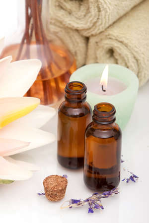 bath towel: Various spa and aromatherapy objects