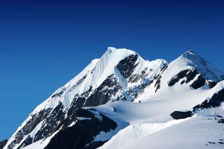Snowy mountain peaks in Alaska Stockfoto