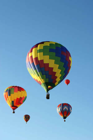 Colorful hot air balloon on blue sky Stock fotó