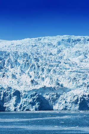 alaska scenic: Scenic Hubbard Glacier in Alaska
