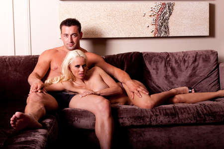 Sexy blonde woman and man Stock Photo - 6928314