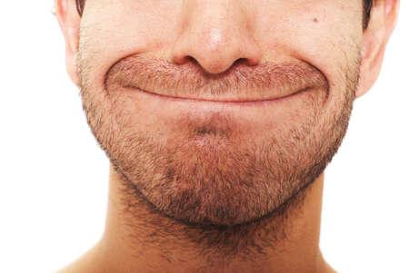 sarc�stico: Hombre con sarc�stica de la expresi�n facial