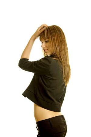 dancing club: Sexy young woman dancing Stock Photo