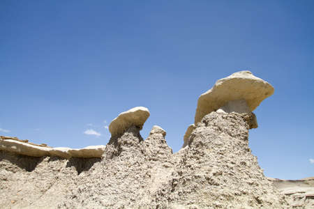 Scenery from Bisti Wilderness in New Mexico USA photo